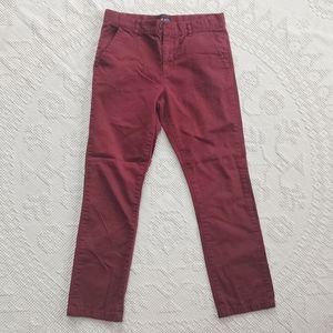 Maroon Flat Front Children's Place Pants 12 Husky